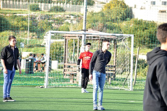 Sant'Antnin Family Park: our youth enjoying the clean and well kept football pitch in the park