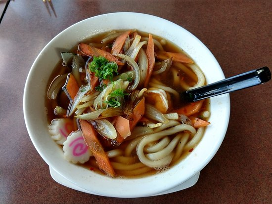 Spicy seafood udon noodles - Picture of Sonoda's ...