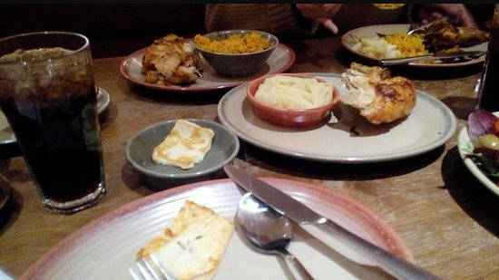Nando's: notice the grilled Haloumi cheese.