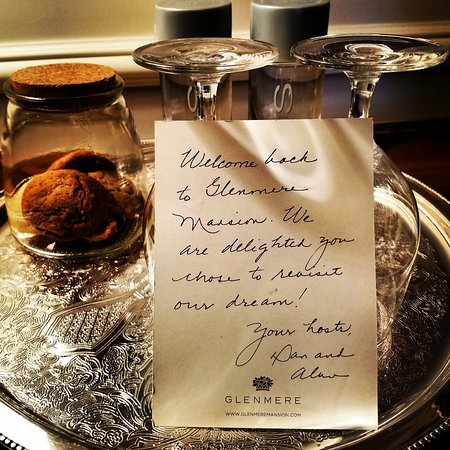 Glenmere Mansion: personalized welcome note