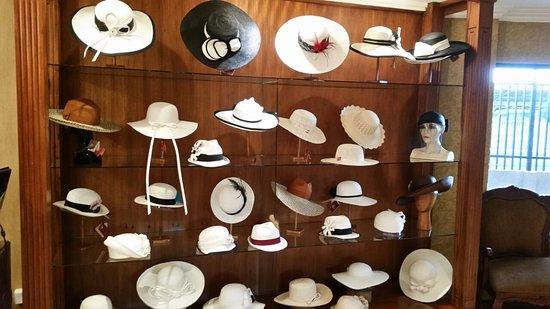Homero Ortega: Retail display of over 90 sombrero designs!