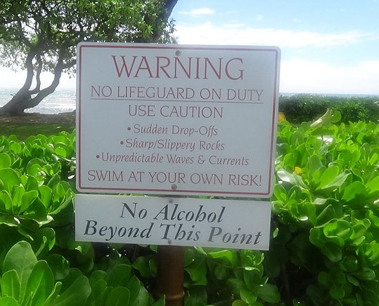 Kauai Coast Resort at the Beachboy: Look, don't swim!