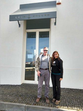 Sao Roque do Pico, Portugal: Outside the restaurant with our tour guide, Raisa, with Tripix.