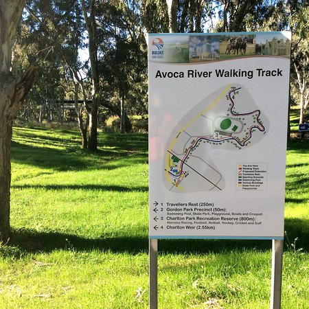 Charlton, Australien: Map of the Avoca River Walk