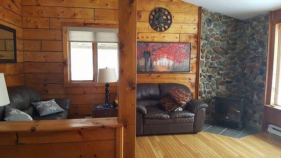 Riverfront Chalets & Rafting Newfoundland: Livingroom