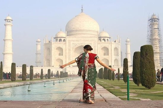 Taj Mahal dagstur med raskeste...