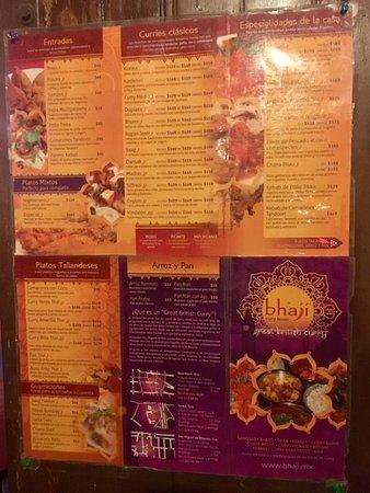 Bhaji: menu