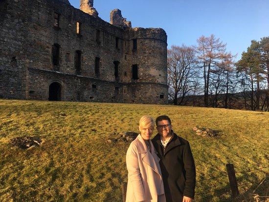 Balvenie Castle: Both of us
