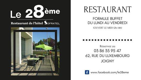 Le 28eme Carte De Visite Du Restaurant