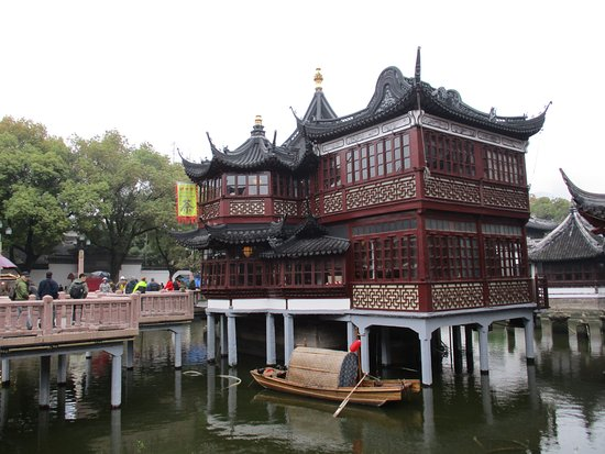Exceptional Yu Garden (Yuyuan): 200 Year Old Tea House, Just Outside Yuyuhan Gardens