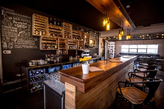 Open Bar with Pallet Shelves - Picture of Bao Box, Nairobi
