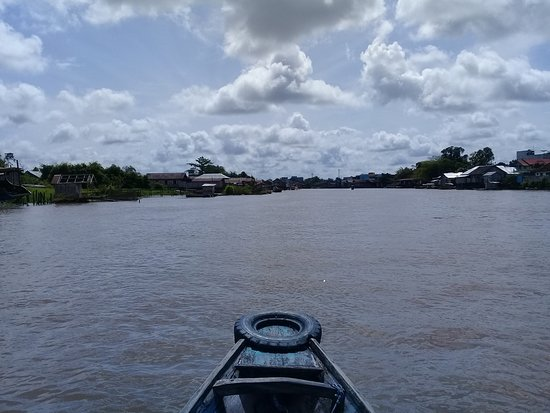 Pangkalan Bun, Indonesia: Cruising arut river