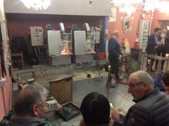 Vecchia Murano: Démonstration de soufflage de verre