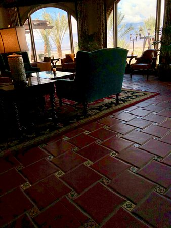 The Inn at Furnace Creek Dining Room : Looking from sitting are out to Death Valley