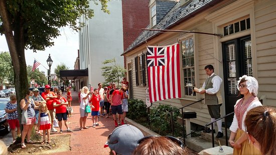 Fredericksburg, Virginie : Reading of Declaration of Independence