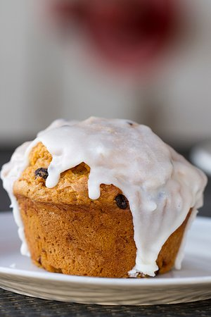 Clearfield, Γιούτα: pumpkin chocolate chip muffin with icing