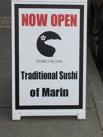 San Rafael, كاليفورنيا: Sign outside