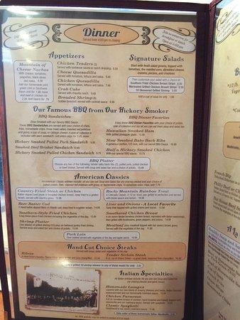 Big Horn Restaurant: Menu