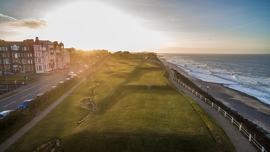 Cromer, UK: The course looking simply stunning from the air!