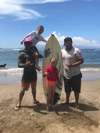 Bully's Surf School: Bully and Bear with my kids after their 3rd Session!!!
