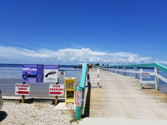 The entrance to the fishing pier picture of bokeelia for Bokeelia fishing pier