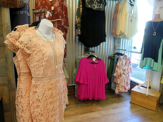 more than a few peach colored items at the Peach Boutique in Peach Park