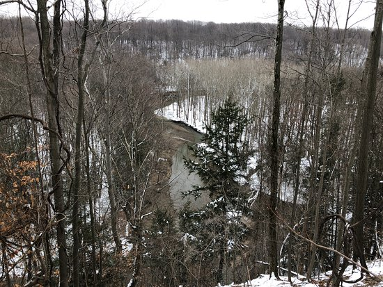 Concord, OH: Looking down at Big Creek from the observation area near Skok Meadow