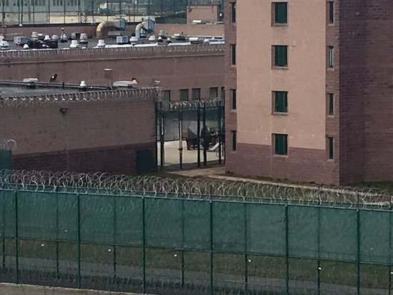 Harrah's Philadelphia: view of the prison next door from the self parking garage