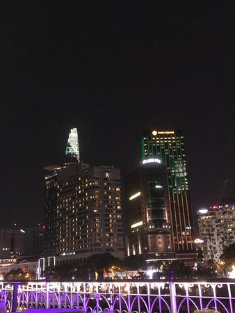 HCMC at night from the river