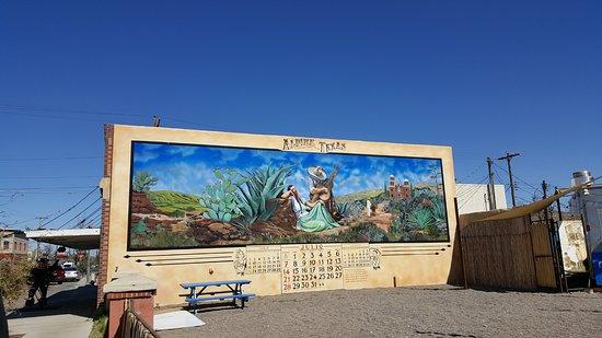 Alpine mural.