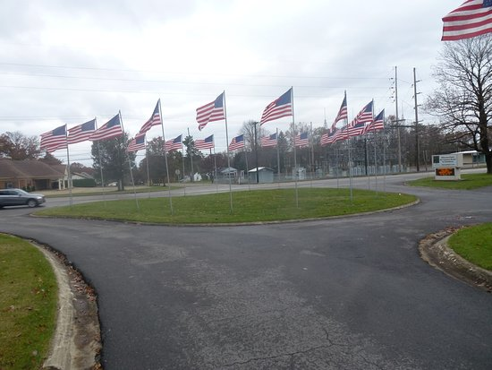 The Avenue of 444 Flags: View From Avenue Looking Toward City Street