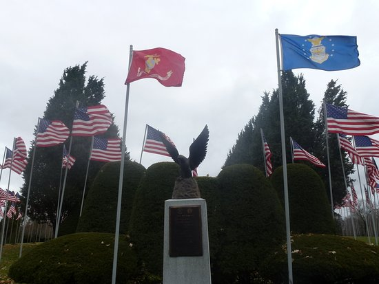 The Avenue of 444 Flags: A Beautfully Landscaped Section Of The Avenue