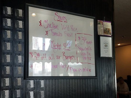 ‪‪Wadena‬, ‪Minnesota‬: Specials Board.‬