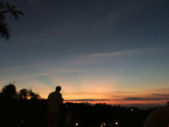 Sunset and bonfire at The Damai Villa, Lovina, Bali