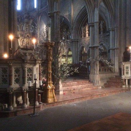 The transept at St John's