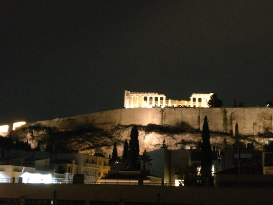 View of the Acropolis from the roof of the Herodion Hotel