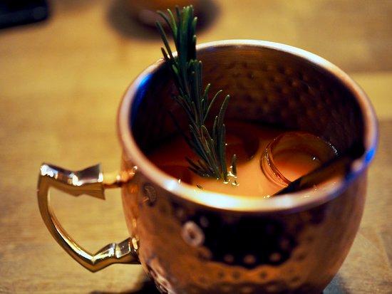 Treffi Pub & Bistro: Our Porkkana Muuli drink, yummy!