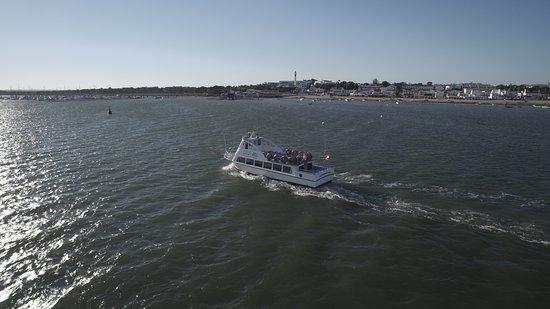 El Rompido, Spain: Navegación durante el paseo en barco