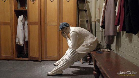 Bradman Museum & International Cricket Hall of Fame: Locker room
