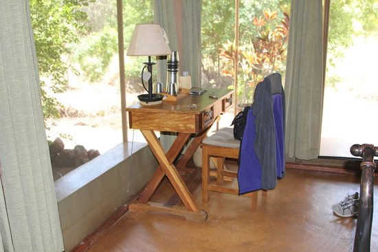 Meru National Park, Kenia: desk area