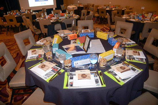 DoubleTree by Hilton Hotel Irvine - Spectrum: Habitat for Humanity of Orange County's Building Dreams Fundraising Breakfast Setup