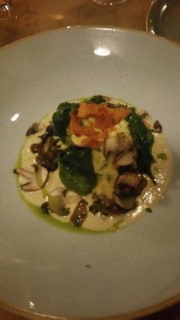 palline di spinaci con funghi e formaggio fuso
