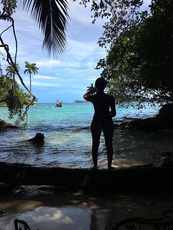 Isla Solarte, Panama: Hidden beach