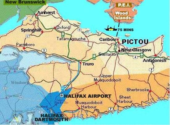 Pictou, Canada: Map