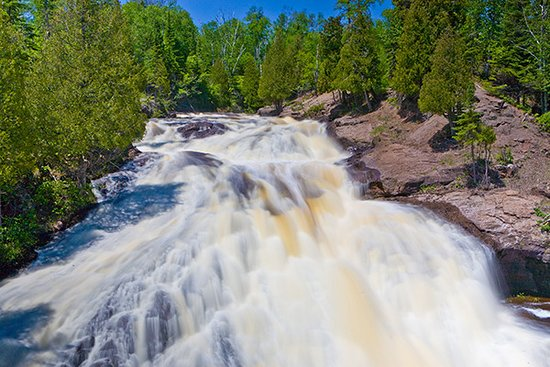 Schroeder, MN: Cross River Waterfall - Shroeder