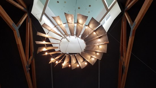 Saint Paul, OR: A closer view of the light fixture over the tasting room.