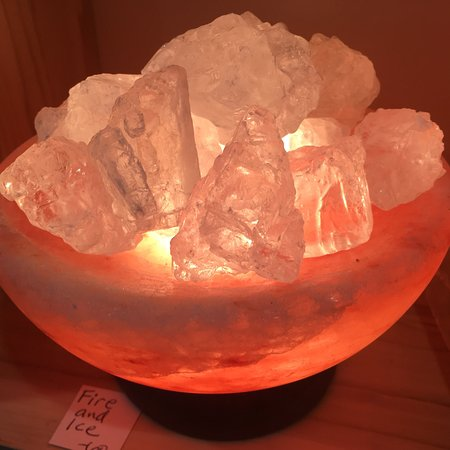 Bloomington, IN: products from the Santa Barbara Salt Cave and unusual pink Himalayan Salt Lamps!  Halotherapy wa