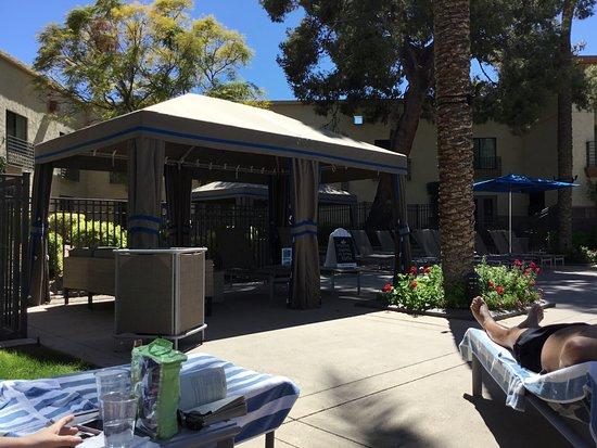 cabana picture of hilton scottsdale resort villas. Black Bedroom Furniture Sets. Home Design Ideas
