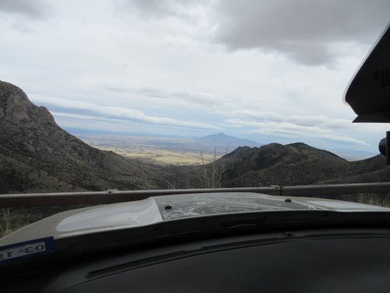 ‪‪Hereford‬, ‪Arizona‬: From inside the Jeep looking out toward the San Pedro Valley‬