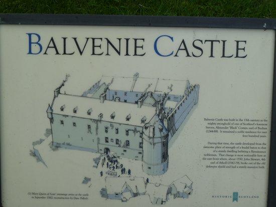 Balvenie Castle: Information panel